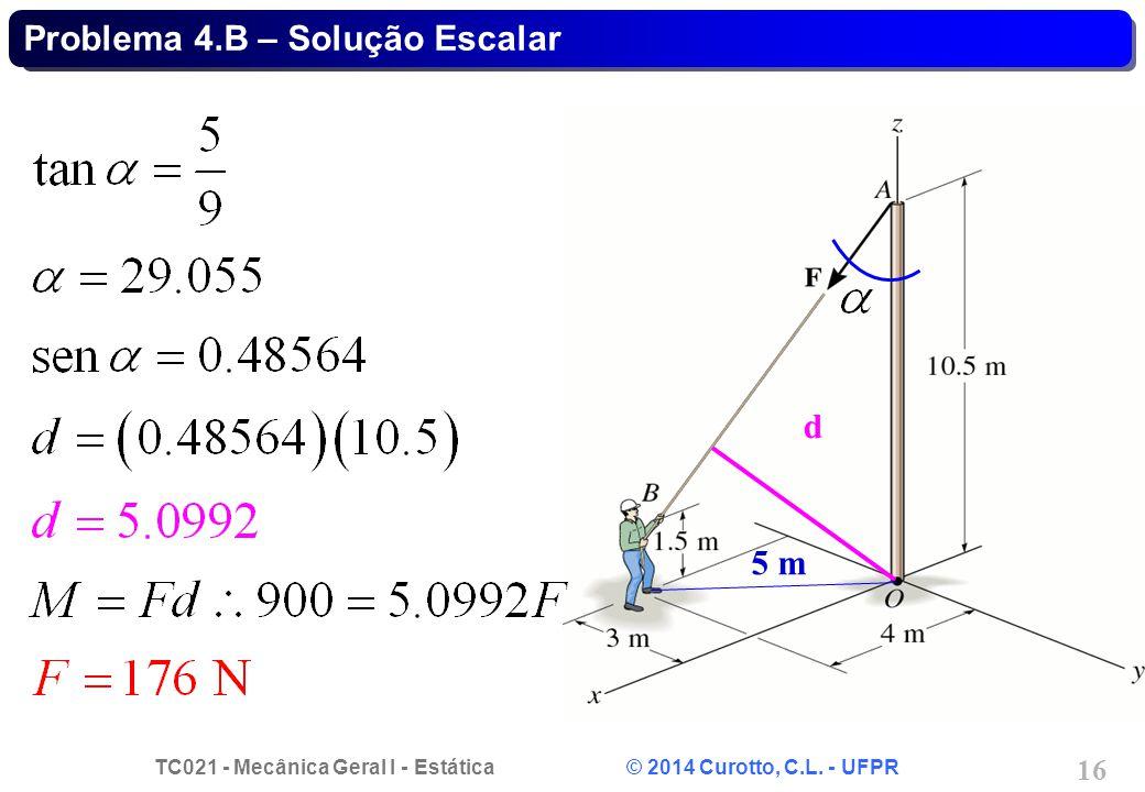 Problema 4.B – Solução Escalar