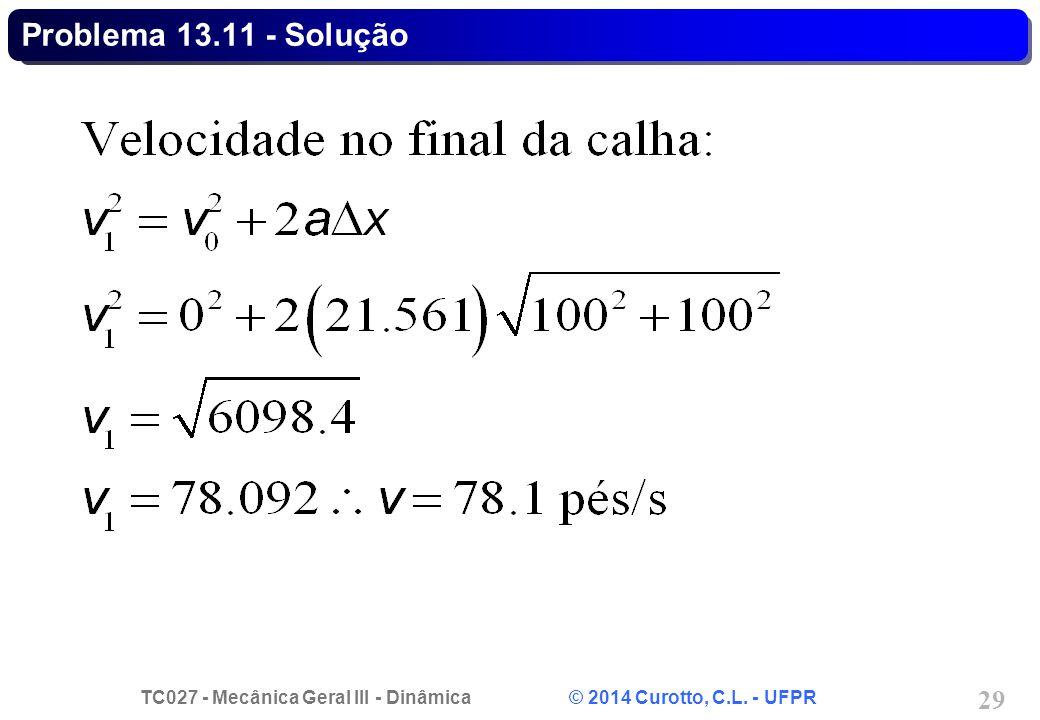 Problema 13.11 - Solução