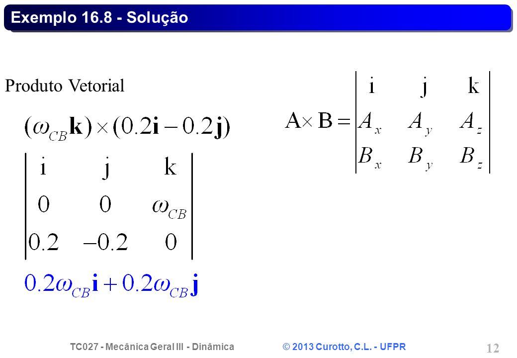Exemplo 16.8 - Solução Produto Vetorial