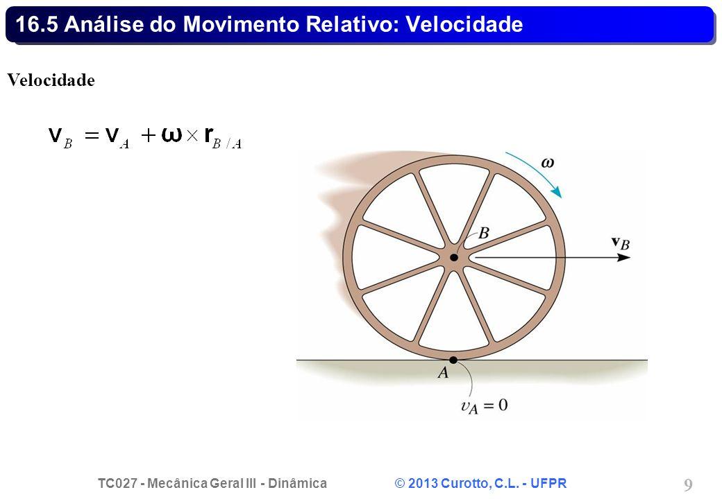 16.5 Análise do Movimento Relativo: Velocidade