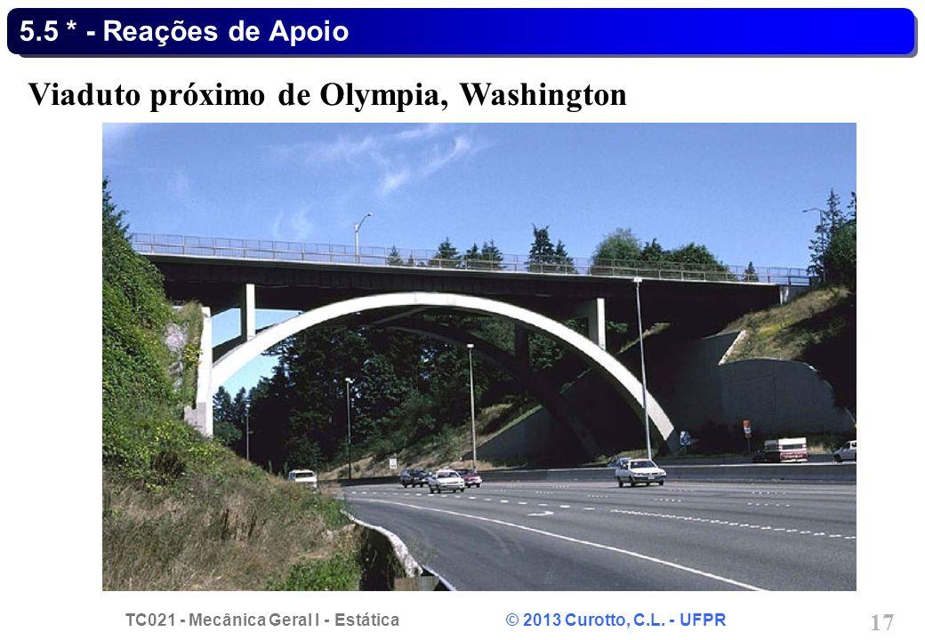 Viaduto próximo de Olympia, Washington