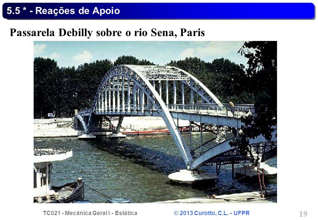 Passarela Debilly sobre o rio Sena, Paris