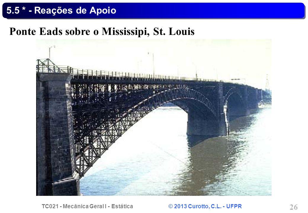 Ponte Eads sobre o Mississipi, St. Louis