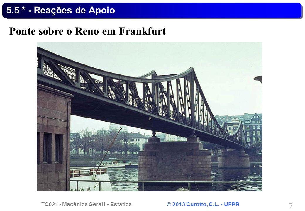 Ponte sobre o Reno em Frankfurt
