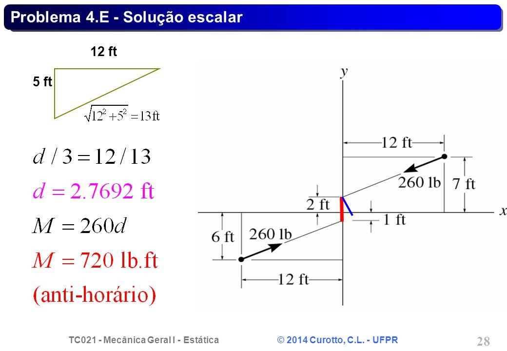 Problema 4.E - Solução escalar
