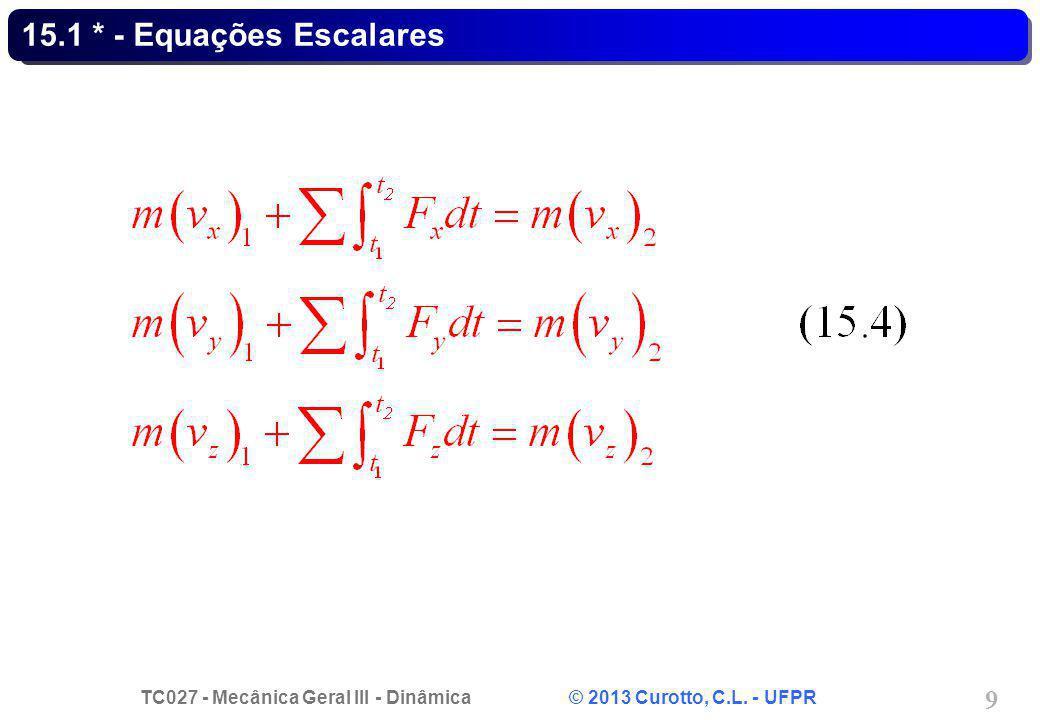 15.1 * - Equações Escalares