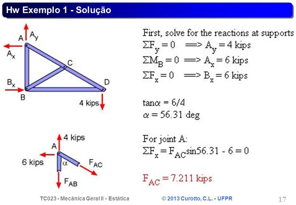 Hw Exemplo 1 - Solução
