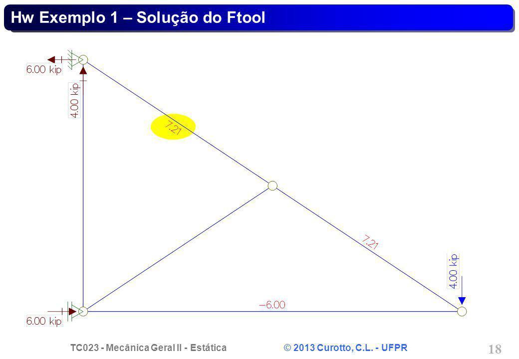 Hw Exemplo 1 – Solução do Ftool