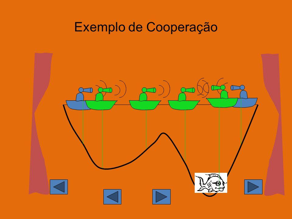 Exemplo de Cooperação L idée de base, commune à bien d autres algorithmes, est celle de coopération.