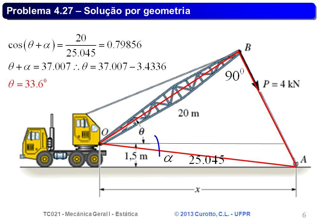 Problema 4.27 – Solução por geometria