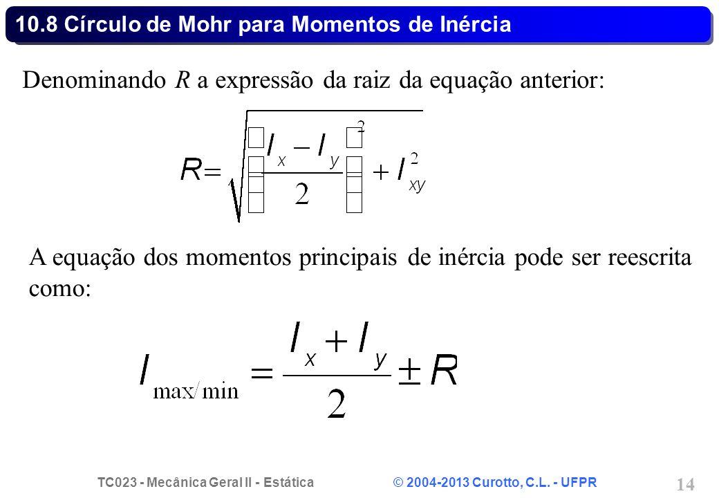 10.8 Círculo de Mohr para Momentos de Inércia