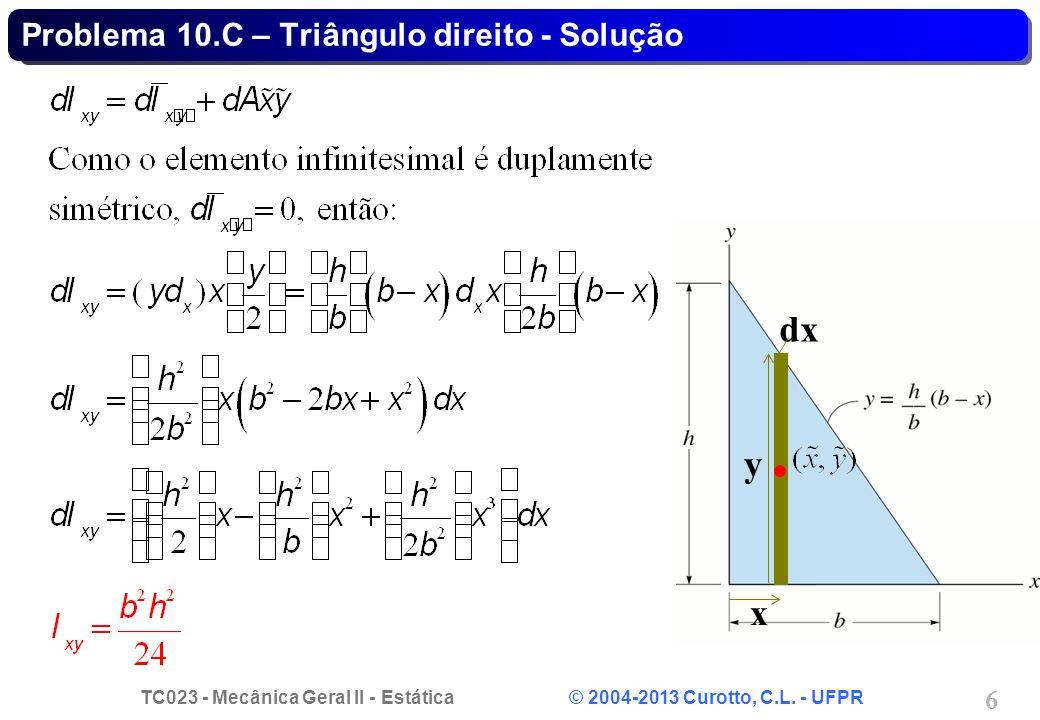 Problema 10.C – Triângulo direito - Solução