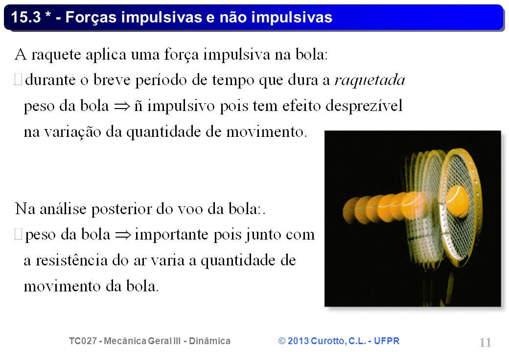 15.3 * - Forças impulsivas e não impulsivas