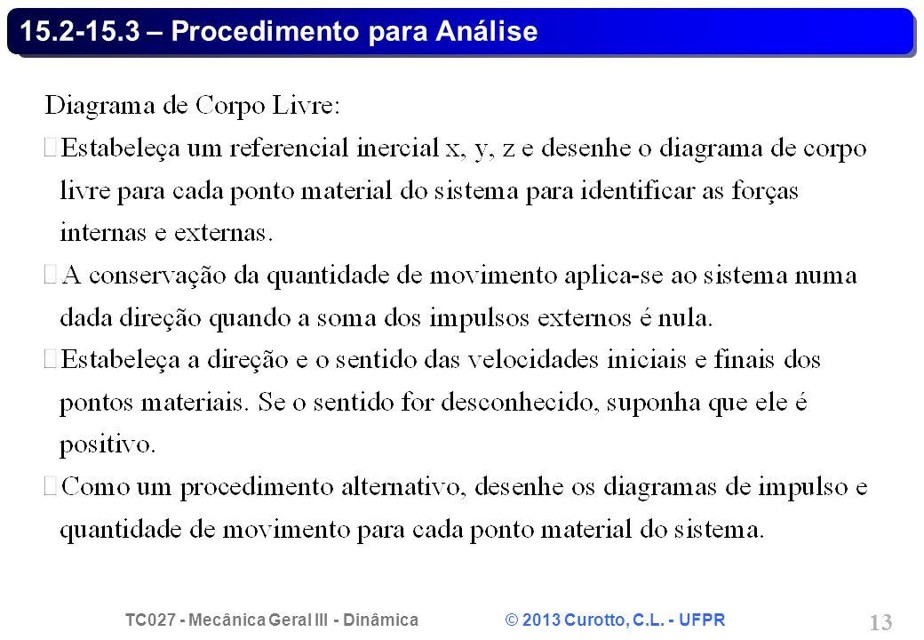 15.2-15.3 – Procedimento para Análise