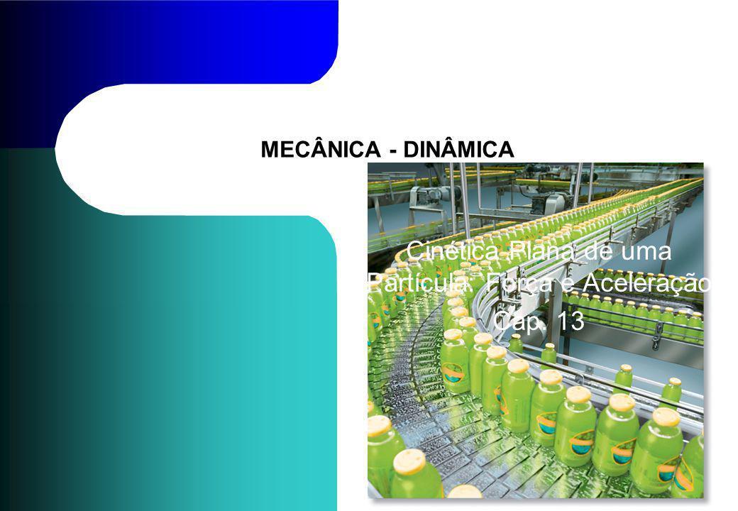 Cinética Plana de uma Partícula: Força e Aceleração Cap. 13