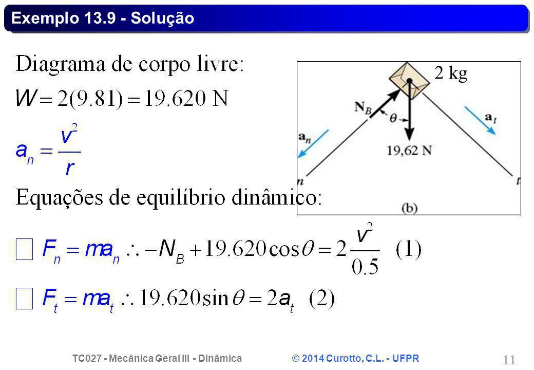 Exemplo 13.9 - Solução 2 kg