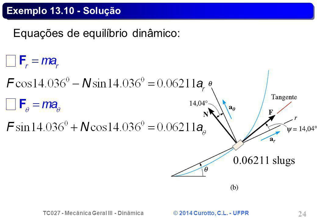 Equações de equilíbrio dinâmico: