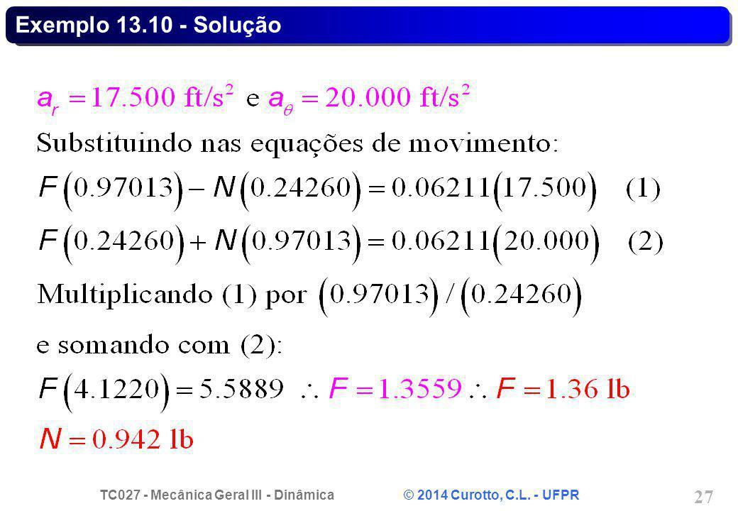 Exemplo 13.10 - Solução