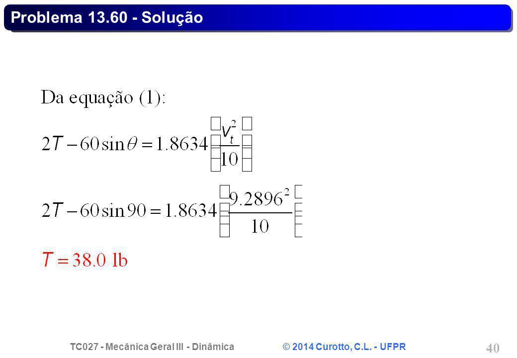 Problema 13.60 - Solução