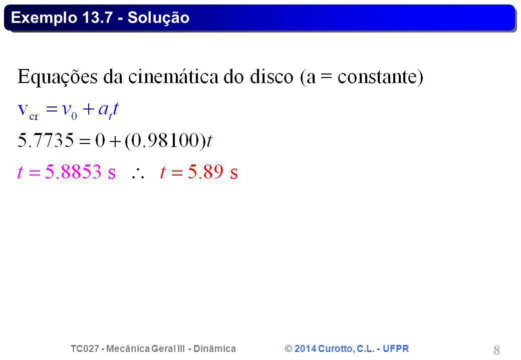 Exemplo 13.7 - Solução