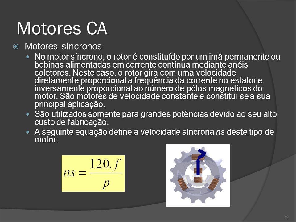 Motores CA Motores síncronos