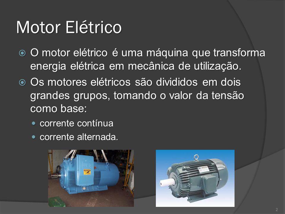 Motor Elétrico O motor elétrico é uma máquina que transforma energia elétrica em mecânica de utilização.