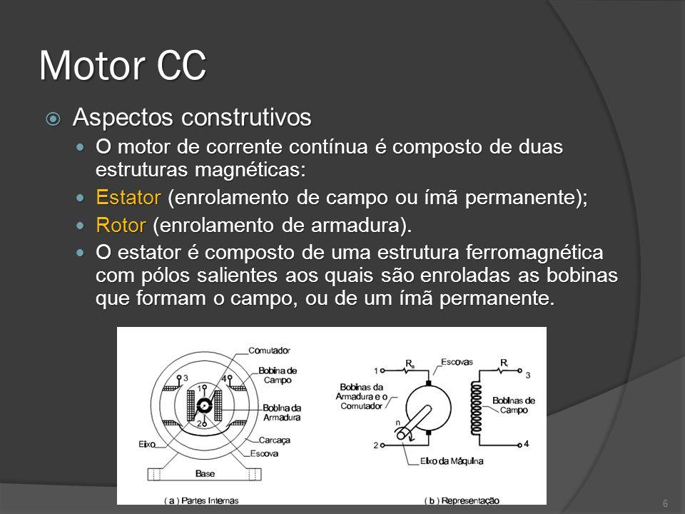 Motor CC Aspectos construtivos