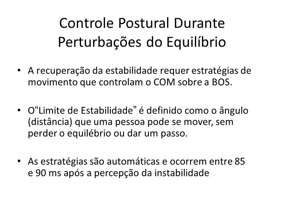Controle Postural Durante Perturbações do Equilíbrio