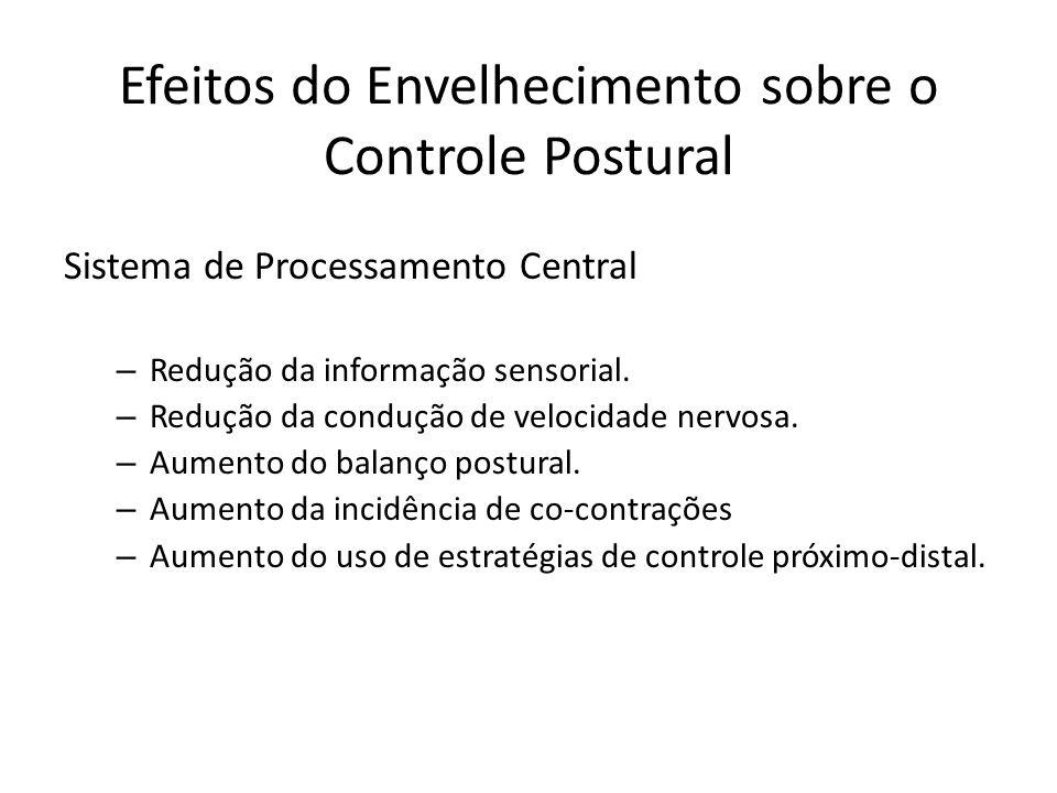 Efeitos do Envelhecimento sobre o Controle Postural