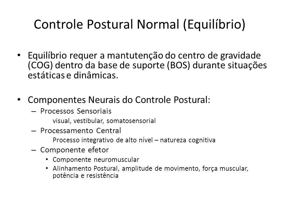 Controle Postural Normal (Equilíbrio)