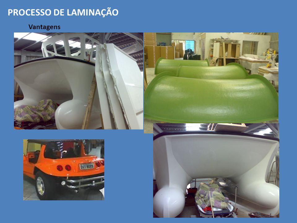 PROCESSO DE LAMINAÇÃO Vantagens