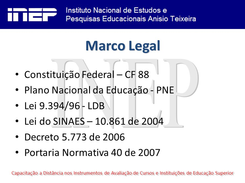 Marco Legal INEP Constituição Federal – CF 88