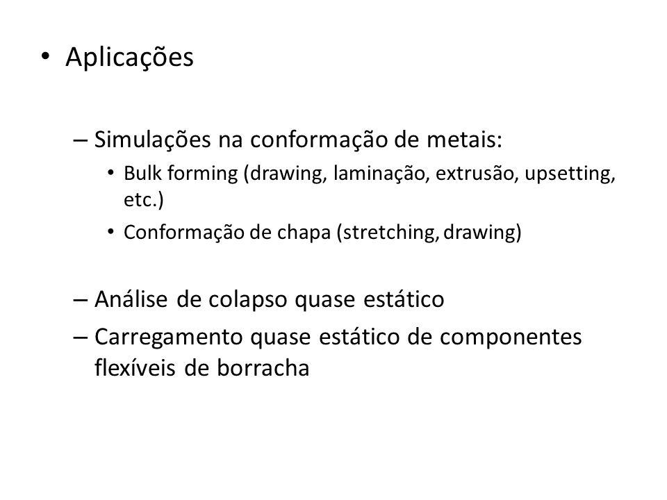 Aplicações Simulações na conformação de metais: