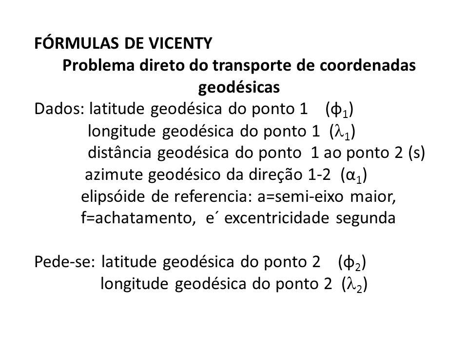 Problema direto do transporte de coordenadas geodésicas