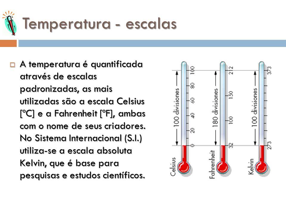 Temperatura - escalas