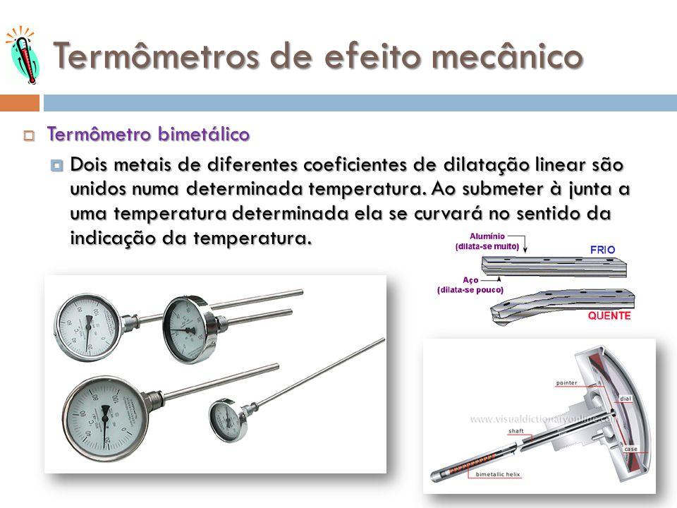 Termômetros de efeito mecânico
