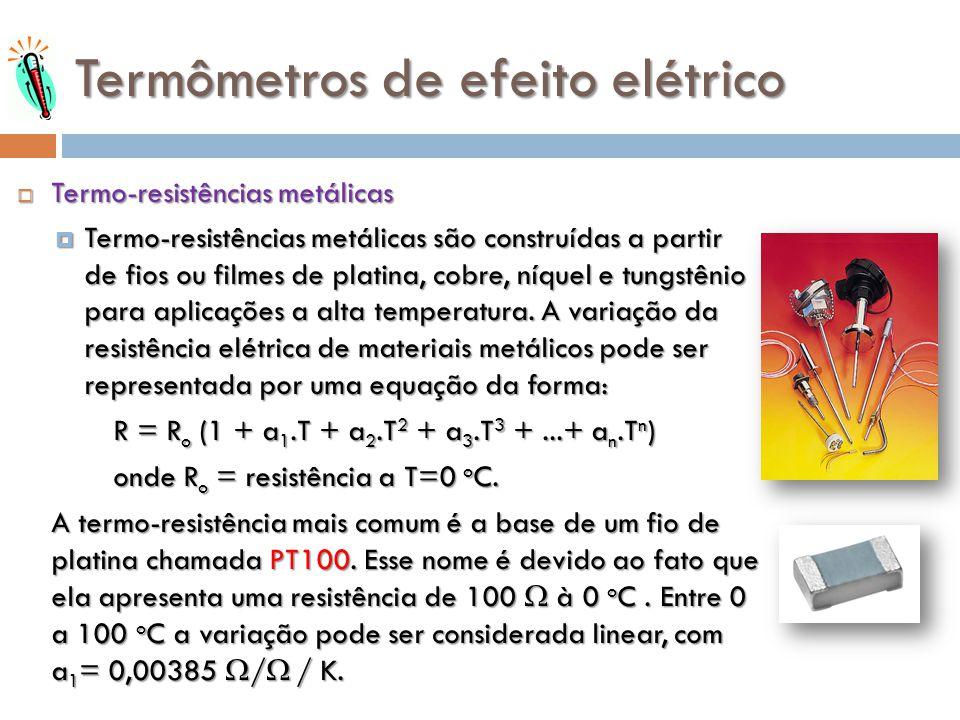 Termômetros de efeito elétrico