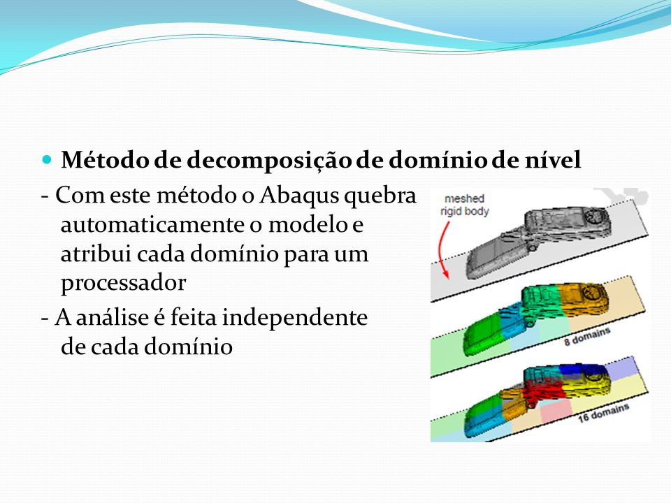 Método de decomposição de domínio de nível