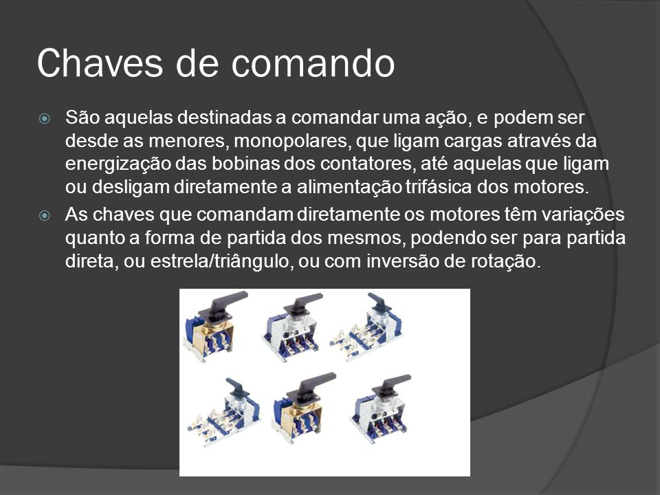Chaves de comando