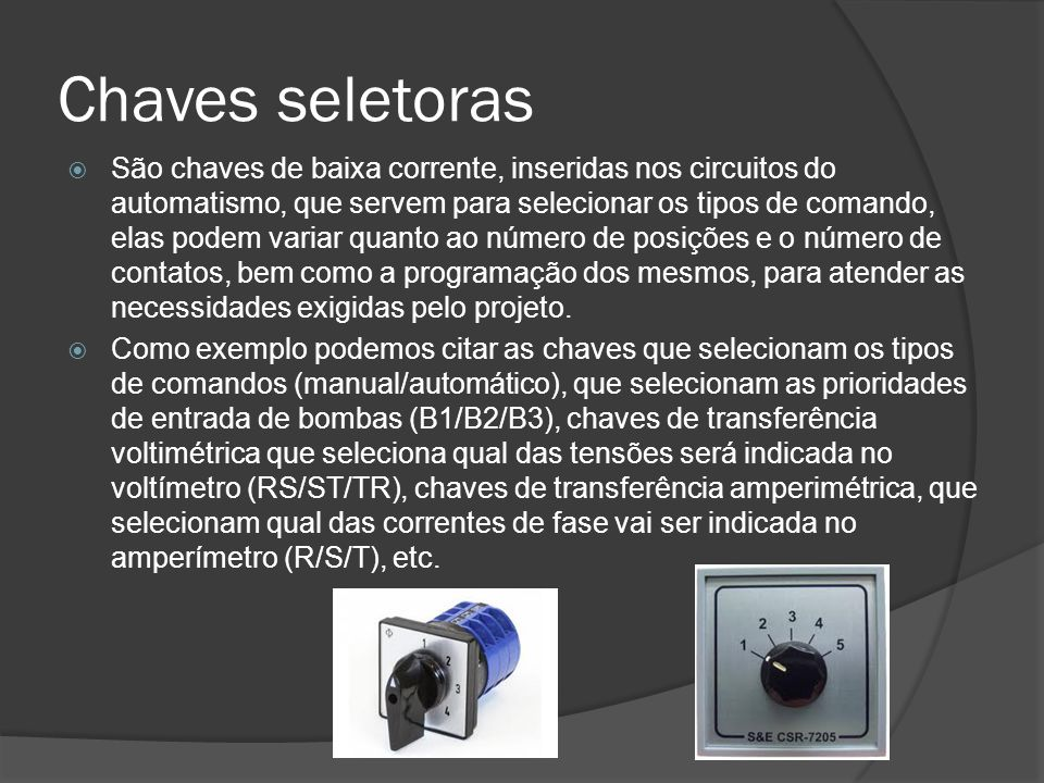 Chaves seletoras