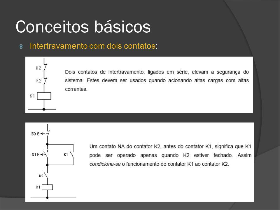 Conceitos básicos Intertravamento com dois contatos: