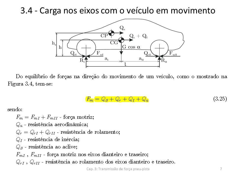 3.4 - Carga nos eixos com o veículo em movimento