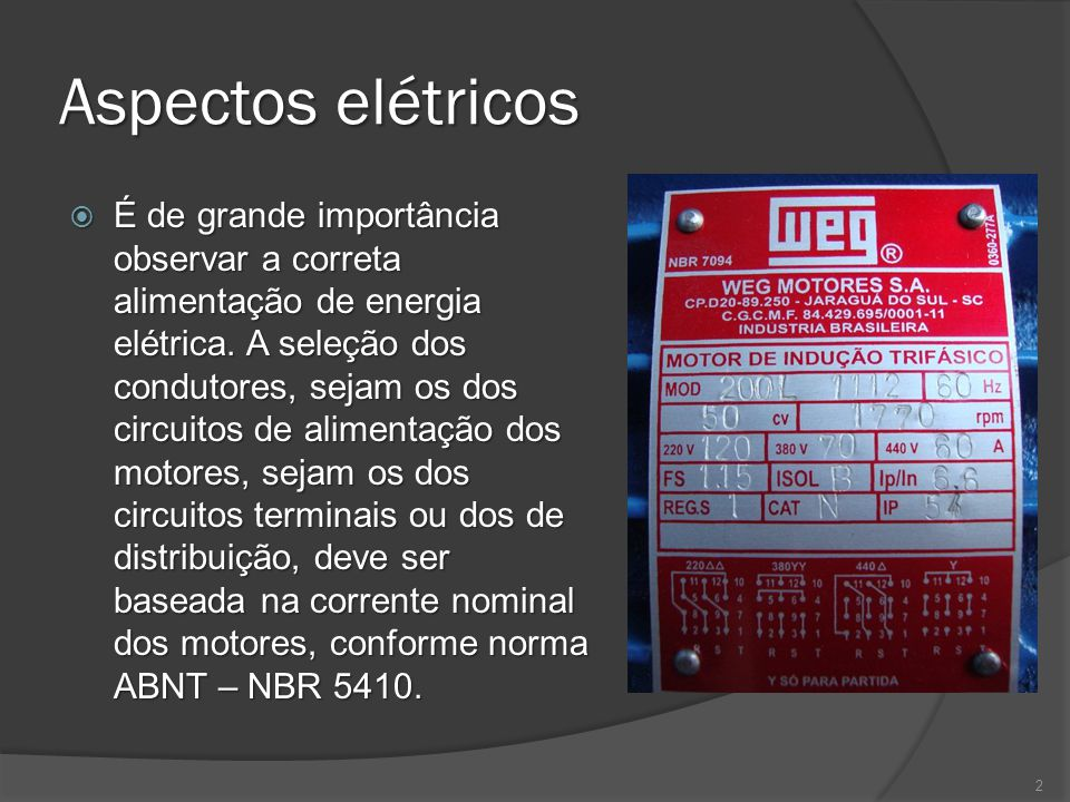 Aspectos elétricos