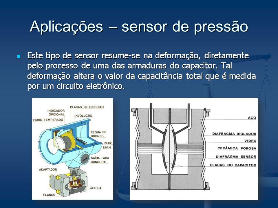 Aplicações – sensor de pressão