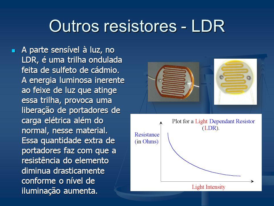 Outros resistores - LDR