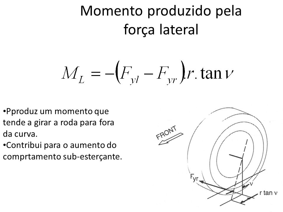 Momento produzido pela força lateral