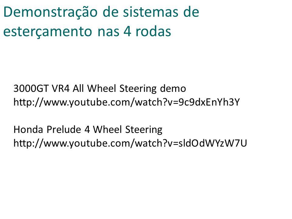 Demonstração de sistemas de esterçamento nas 4 rodas