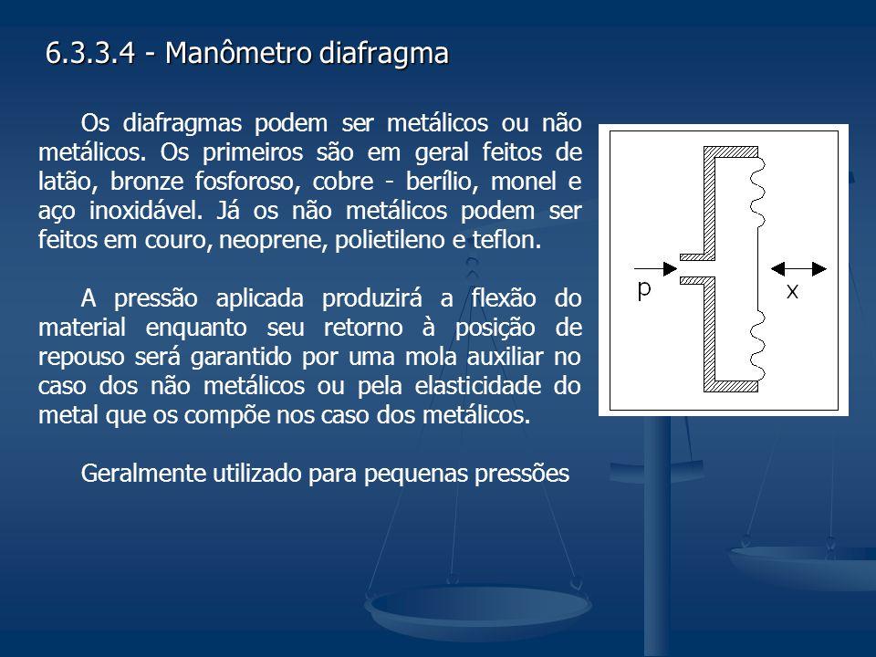 6.3.3.4 - Manômetro diafragma