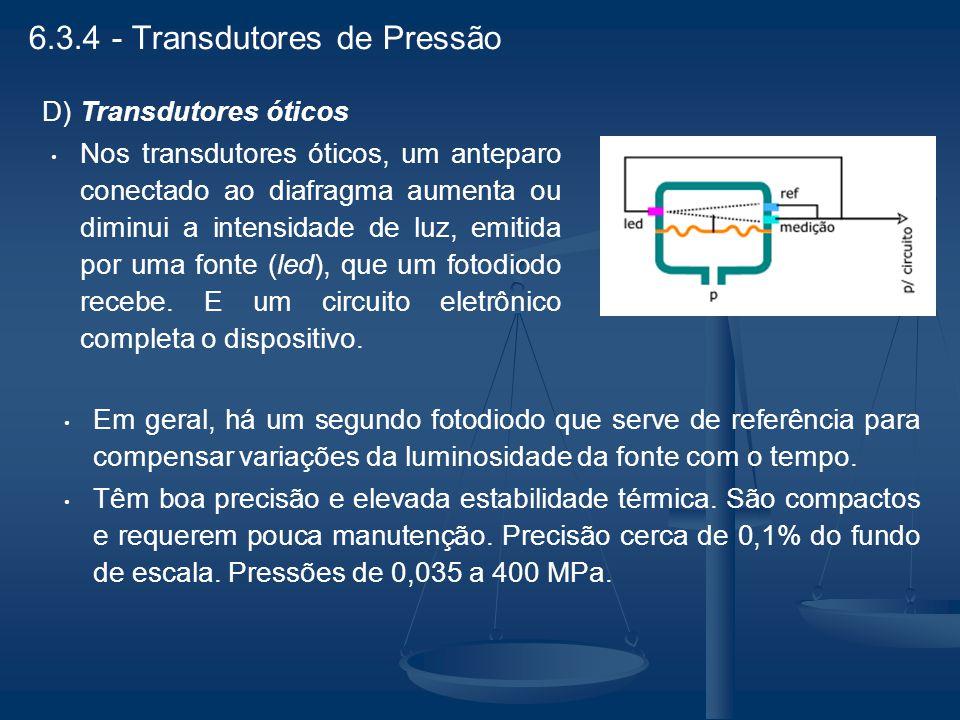 6.3.4 - Transdutores de Pressão