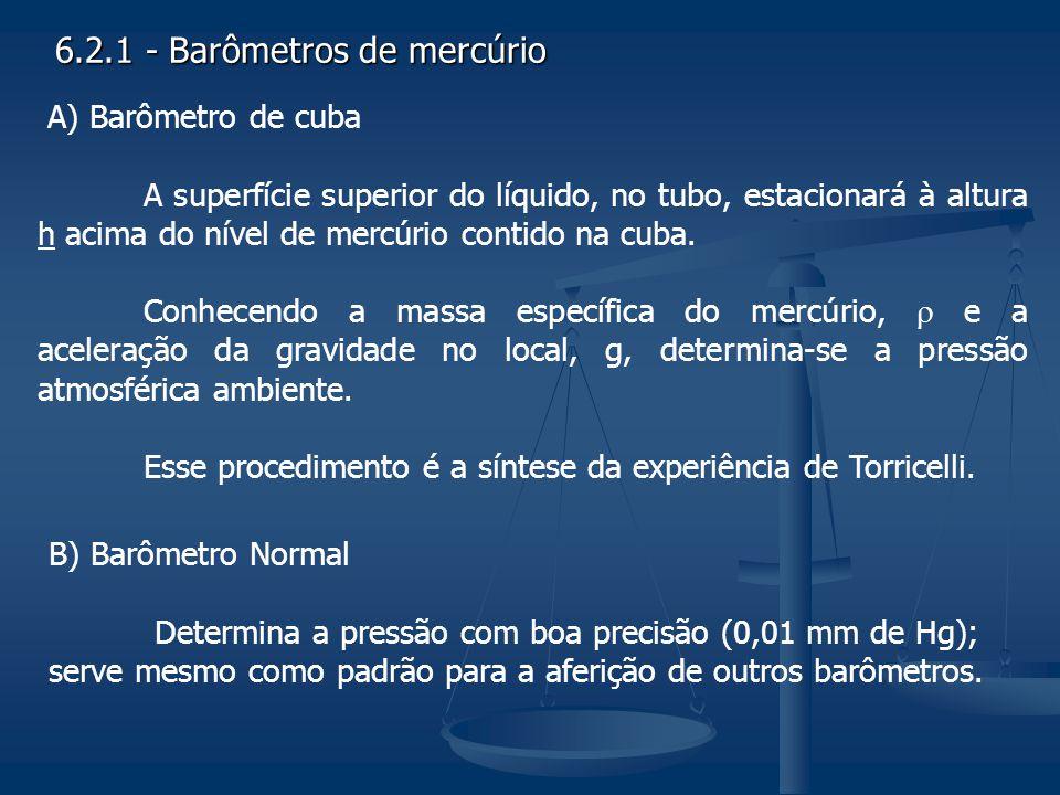 6.2.1 - Barômetros de mercúrio